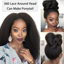 Load image into Gallery viewer, Kinky Straight 360 Lace Frontal Wig Pre Plucked With Baby Hair
