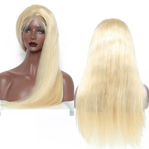Honey Blonde Lace Front Human Hair Wigs Pre Plucked 150% Density