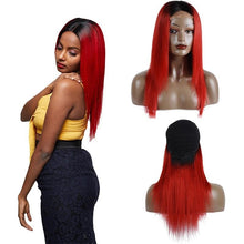 Load image into Gallery viewer, 100% Human Hair Wigs Peruvian Straight Hair Red Wig