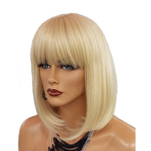 Load image into Gallery viewer, Lace Front With Bangs Straight Colorful Bob Cut Wig