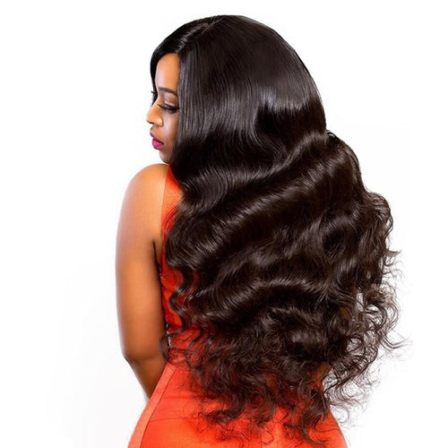 Closure Wig 250 Density Lace Front 4x4 Body Wave Front Closure Remy