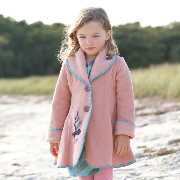 Isadora Swing Coat Blush