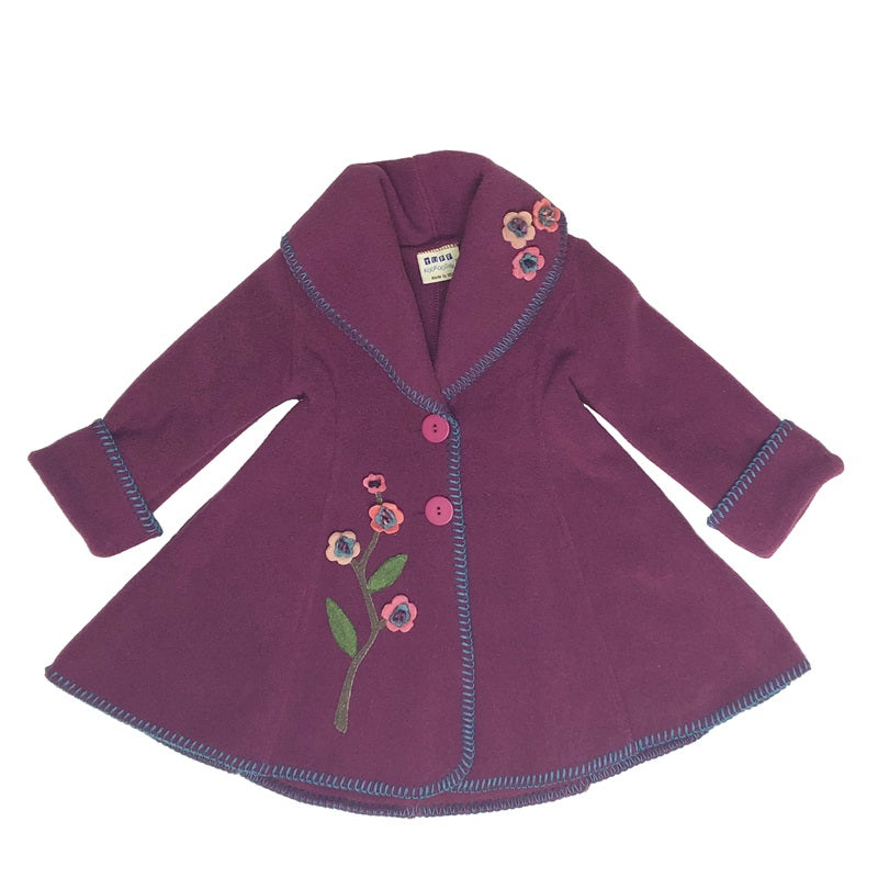 Isadora Swing Coat Mulberry