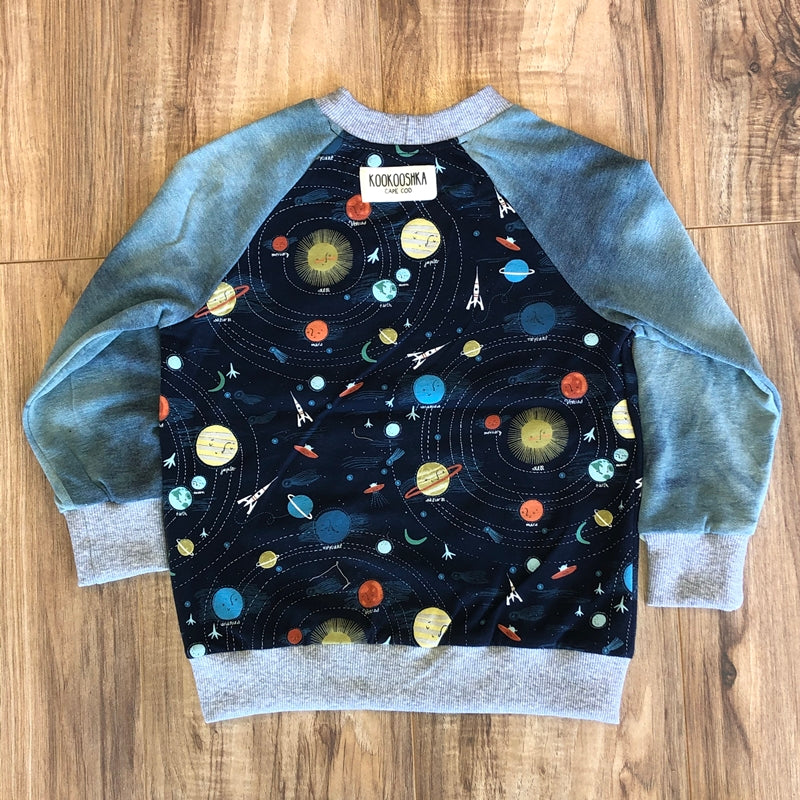 Spacey Tie Dye Long Sleeve Top