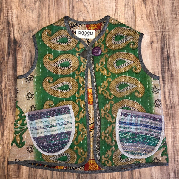 Kantha Quilt Vest 10 Years a