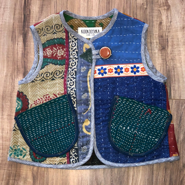 Kantha Quilt Vest 5-6 Years a