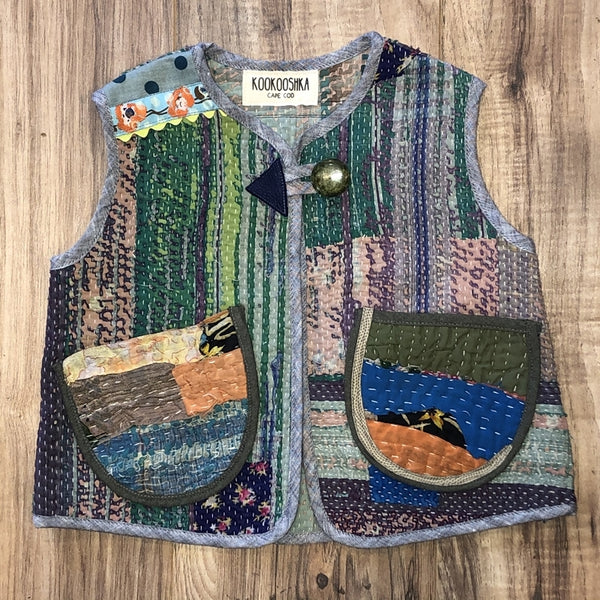 Kantha Quilt Vest 5-6 Years d