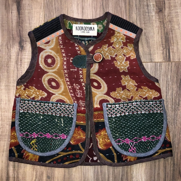 Kantha Quilt Vest 3-4 Years a