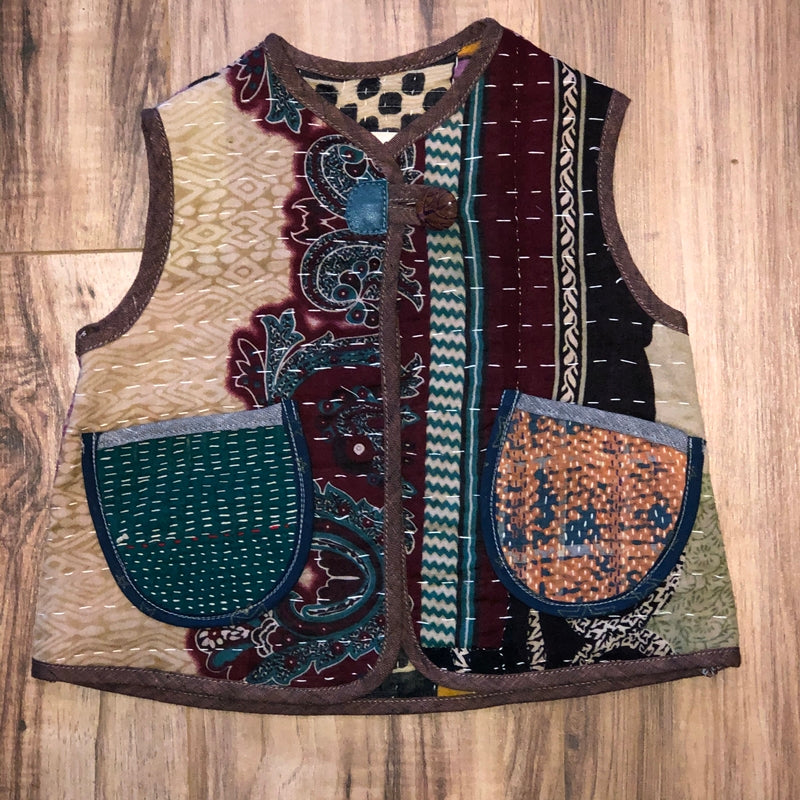Kantha Quilt Vest 3-4 Years d