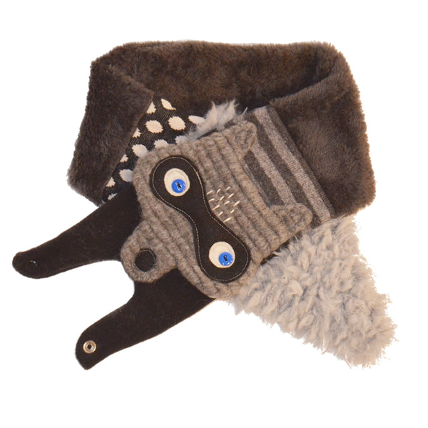 Raccoon Scarf Black