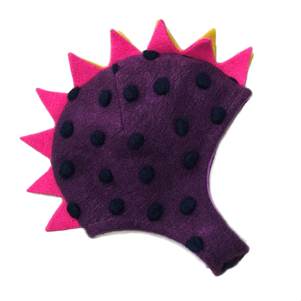 Dino Hat Purple Polka