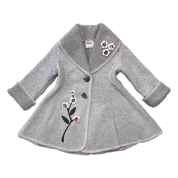 Isadora Swing Coat Stone Grey