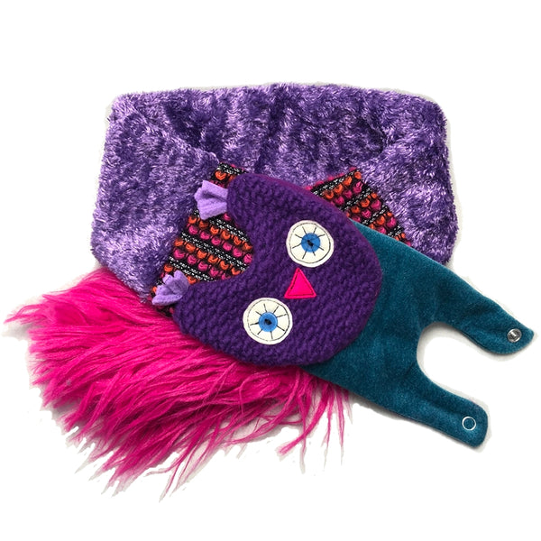 Owl Scarf Purple