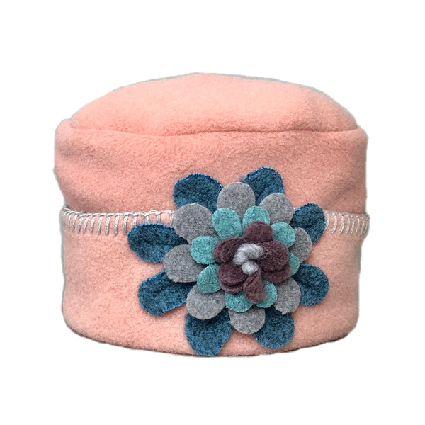 Zizzy Pillbox Hat Blush