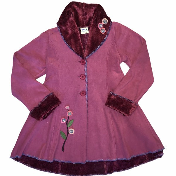 Isadora Swing Coat Mulberry XL