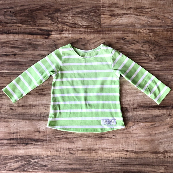Sailor Shirt Wide Striped Lime