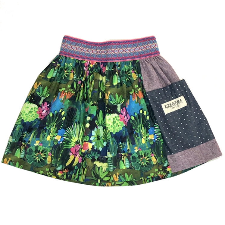 Jungle Flora Cotton Skirt