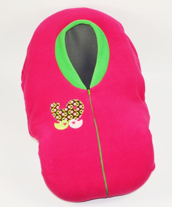 Cozy Cover Hot Pink With Birdies Car Seat Cover Tuff