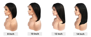 Short Lace Front Bob Wig -  Brazilian Remy Hair - Ulahair