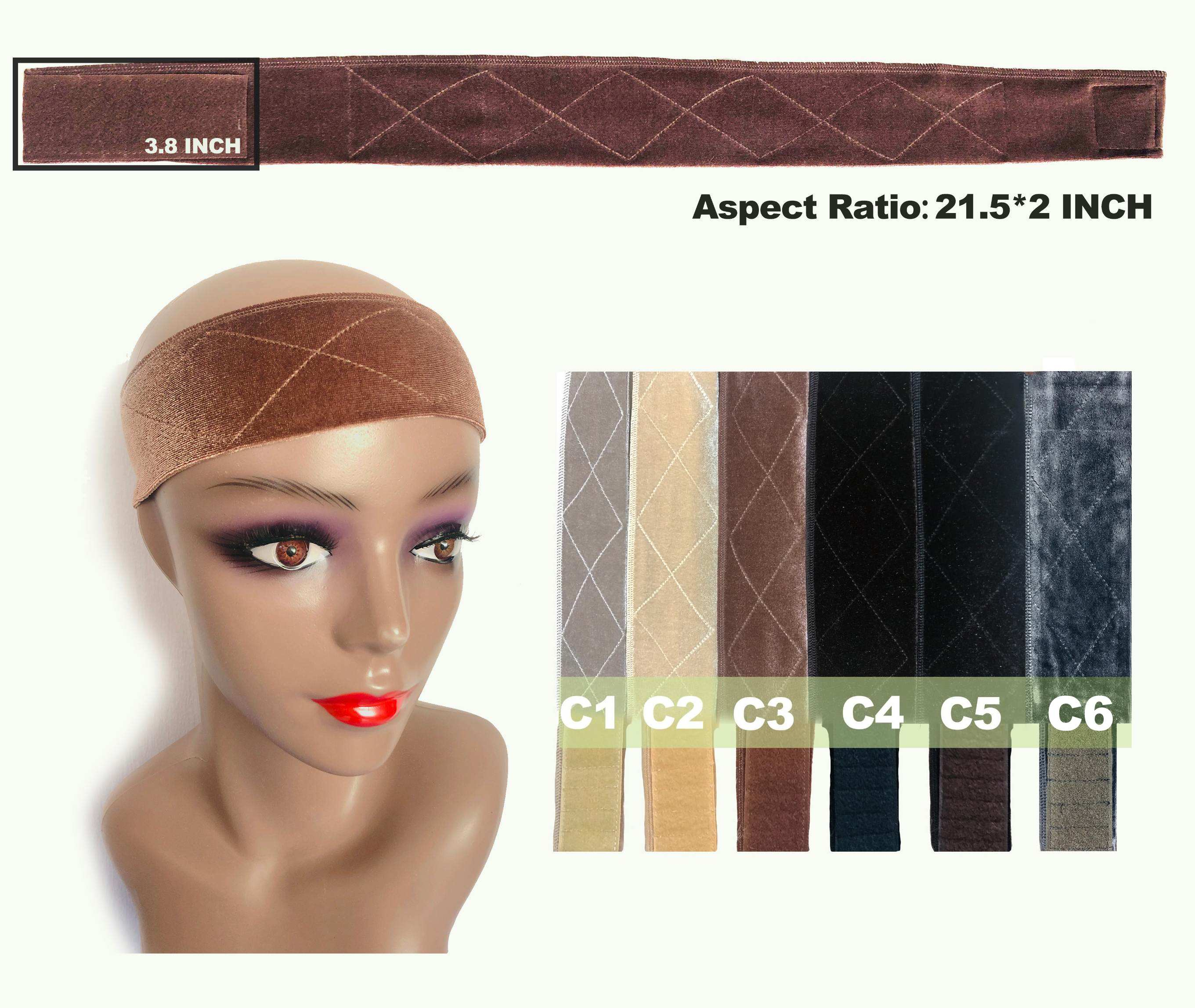 Flexible Velvet Wig Grip Band - 6 colors - Ulawig