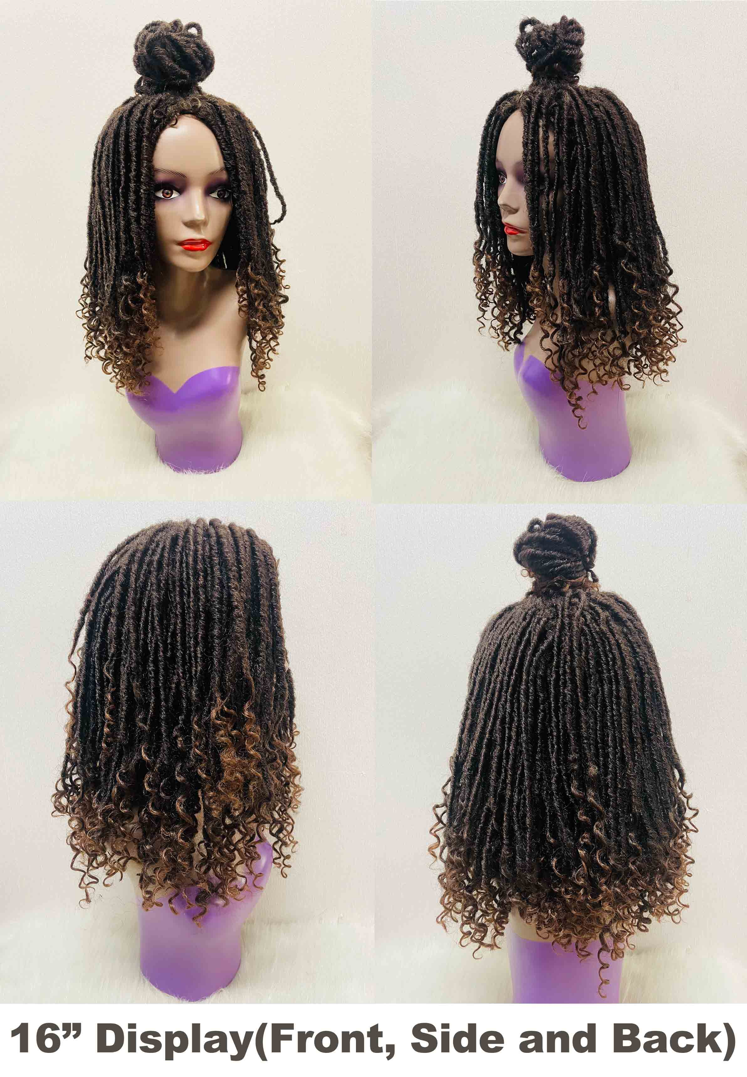 Faux Loc Curly Wig - 2 Styles in 1 - Ulahair