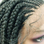 Free Part Cornrow - 13x5 Braided Lace Wig - Ulawig