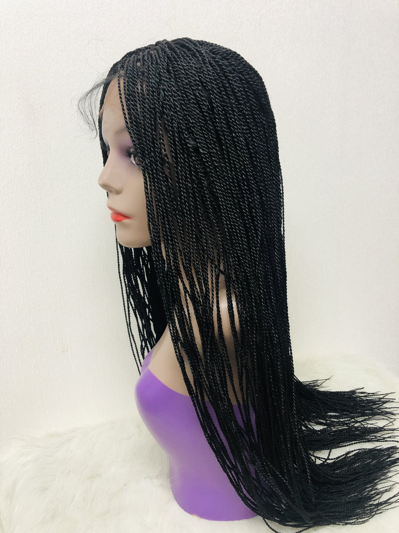 Micro Twist - Middle Part Braids Lace Wig - Ulawig