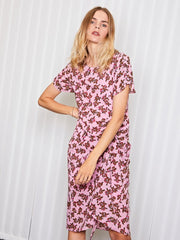 <b>Ghospell</b> Off-line Ruche Midi Dress