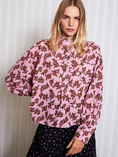 <b>Ghospell</b> Off-line Oversized Shirt in Floral