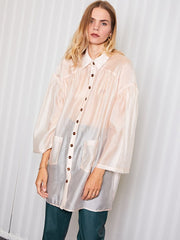 <b>Ghospell</b> Assistant  Sheer Mini Shirt Dress