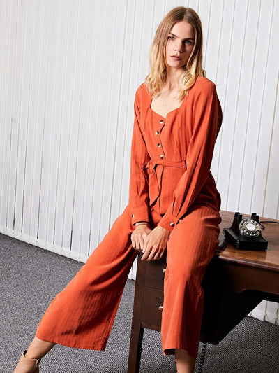 <b>Ghospell</b> Deal Square neck Jumpsuit