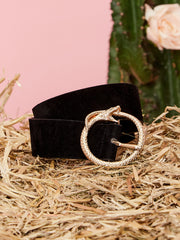 Diamond Back Faux Leather Belt