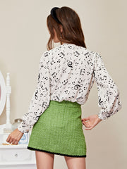 Notes Bow Blouse