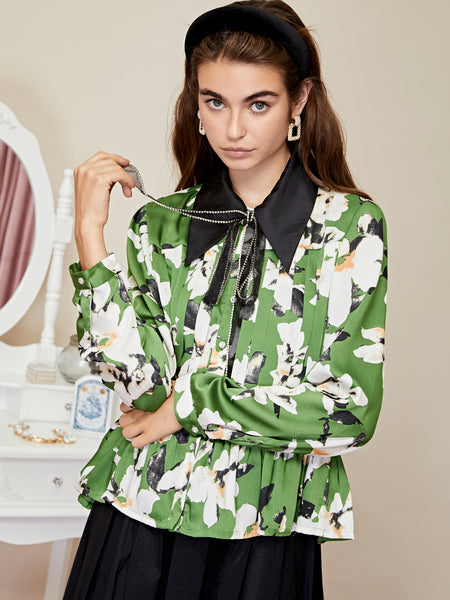 Flora Dorm Pleated Shirt