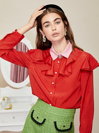 Rose Quarters Ruffle Shirt