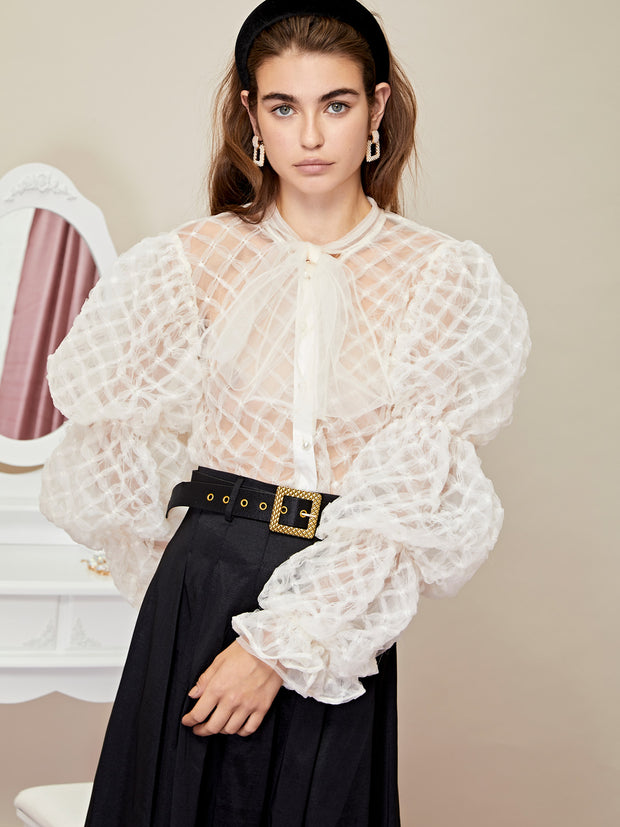 Pillow Puff Bow Blouse
