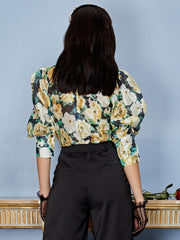 Winter Garden Bow Blouse