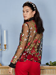 Queenly Embroidered Blouse