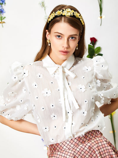 Posy Puff Sleeve Blouse