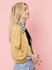 Prickly Pear Mixed Print Blouse