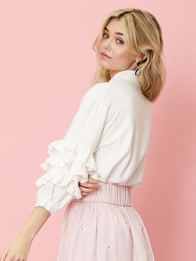 Sunflower Melody Ruffle Sleeve Shirt