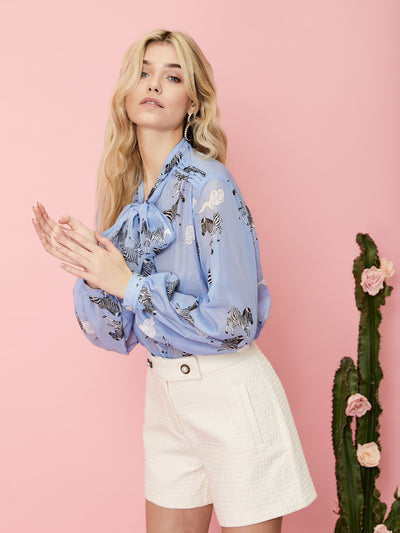 Head in the Clouds Bow Blouse