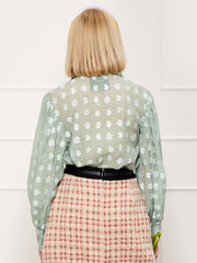 <b>DREAM</b> Daisy Lawn Retro Bow Blouse