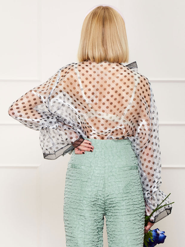 <b>DREAM</b> Poppy Pin Oversized Bow Blouse