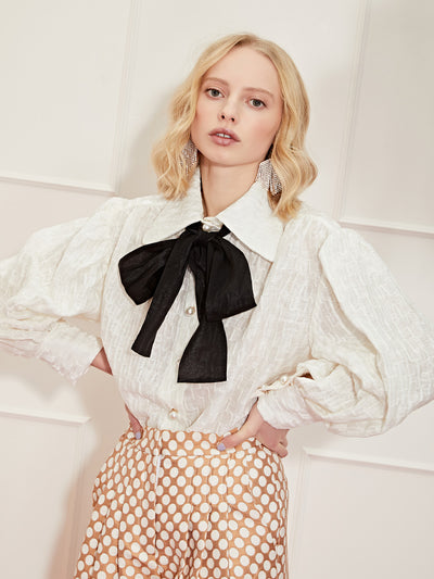<b>DREAM</b> West Country Weave Bow Blouse