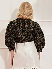 <b>DREAM</b> Pony Up Puff Sleeve Blouse