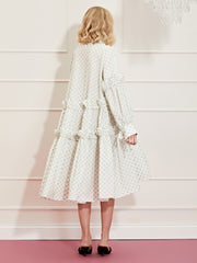 <b>DREAM</b> Ace High Tiered Midi Dress