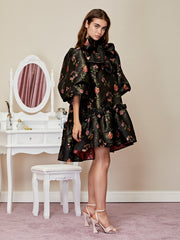 Moon Flower Oversized Mini Dress