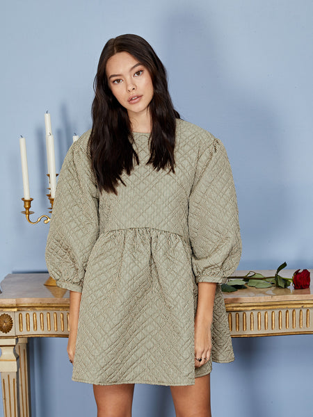 Quilted Quota Smock Dress