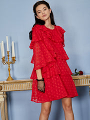 Ready Rouge Tiered Mini Dress